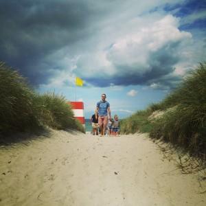 En af vores mange udflugter til stranden. Her i Rørvig. Foto: Anne Anthon Andersen.